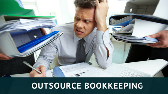 Image of man tired with bookkeeping