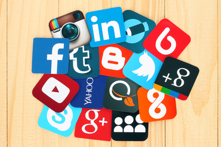 image of social network icons